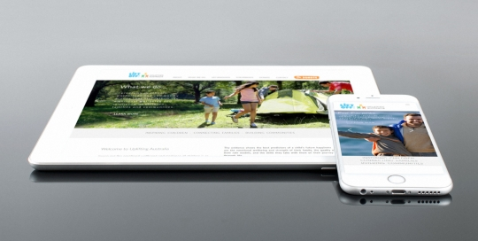 uplifting australia website design