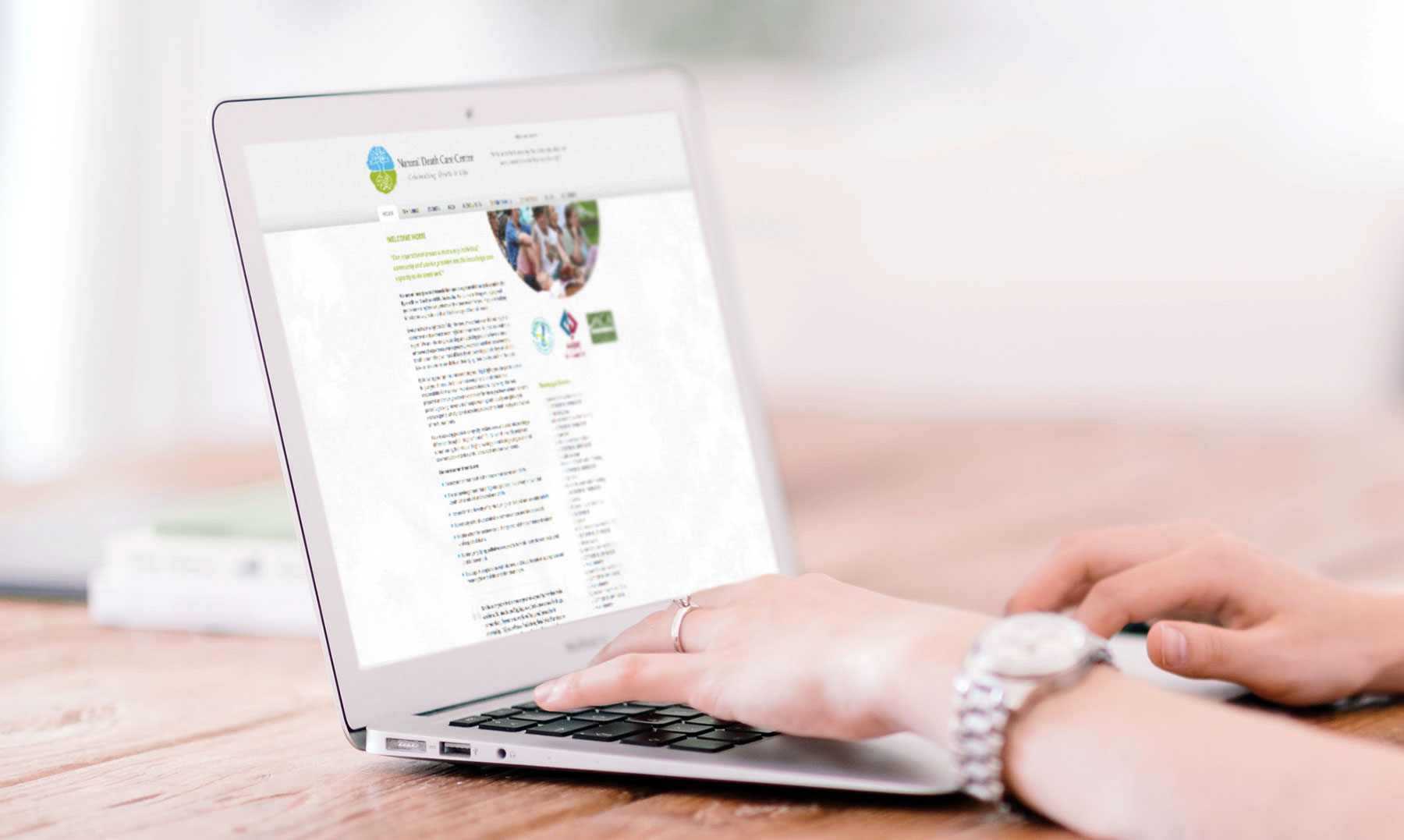 natural death care centre website design